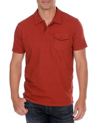 Lucky Brand Solid Polo Red