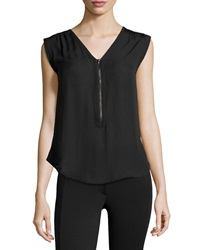 Dex Georgette Sleeveless Top Black