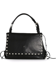 Henry Beguelin Studded Shoulder Bag Black