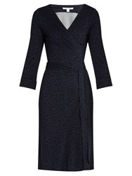 Diane Von Furstenberg New Julian Dress Blue Print