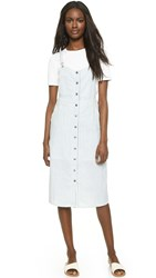 Capulet Front Button Down Overall Dress Railroad Stripe