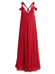 The Great Tea Length Garden Cotton Dress Red