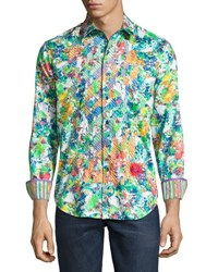 Robert Graham Fauna Woven Button Front Shirt Multi