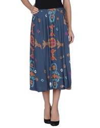 Antik Batik 3 4 Length Skirts Deep Jade