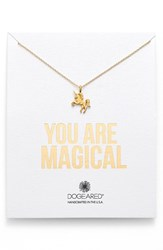 Women's Dogeared 'You Are Magical' Magical Unicorn Pendant Necklace