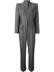 Alexander Mcqueen Vintage Tailored Jumpsuit Grey