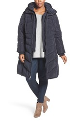 Jessica Simpson Plus Size Women's Quilted Puffer Coat With Removable Hooded Vest Navy