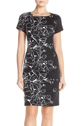 Women's Ellen Tracy Floral Knit Sheath Dress