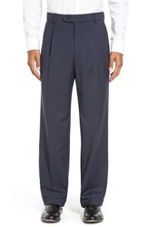 Men's Big And Tall Ballin Pleated Solid Wool Trousers New Navy