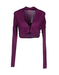 Toy G. Knitwear Wrap Cardigans Women Purple