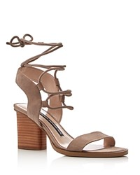 French Connection Jalena Lace Up Sandals Earth