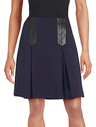 Rebecca Taylor Vented A Line Skirt Navy