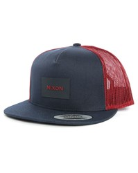 Nixon Blue And Red Team Trucker Cap