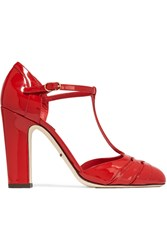 Dolce And Gabbana Patent Leather Pumps Red