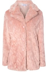 Alice And You Long Faux Fur Coat Light Pink