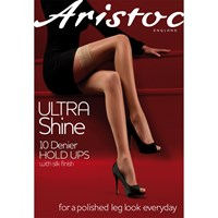 Aristoc Ultra Shine 10 Denier Hold Ups Black