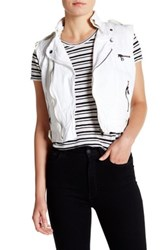 Jakett Cotton Sailcloth Vegan Leather Trim Vest White