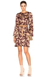 Zimmermann Karmic Swing Tunic Dress In Red Floral Red Floral