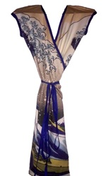 The Great Wave Wrap Dress Over The Knee By Ericawaddellclothing