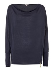 Wal G Long Sleeved Knit With Zip Detail Navy