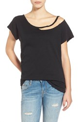 Junior Women's Lna 'Desert' Ripped Tee Black