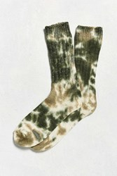 Urban Outfitters Tie Dye Boot Sock Olive