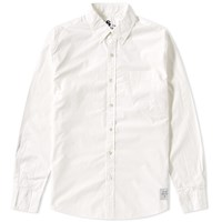 Denim By Vanquish And Fragment Button Down Broadcloth Shirt White