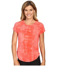 Puma Dancer Burnout Tee Sunkist Coral Heather Women's T Shirt