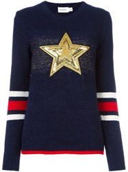 Coach 'Star' Jumper Blue