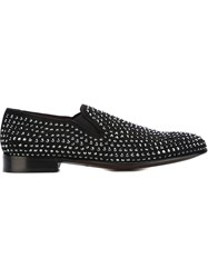 Dolce And Gabbana Studded Slippers Black