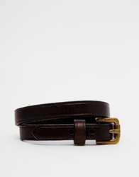 Polo Ralph Lauren Leather Double Wrap Bracelet Brown