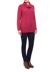 Dash Cowl Neck Jumper Pink