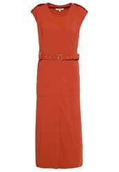 Tibi Summer Dress Metallic Red Red Metallic