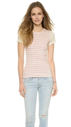 Edith A. Miller Combo Tee Natural Pink And Natural