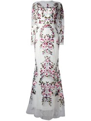 Zuhair Murad Floral Lace Dress White