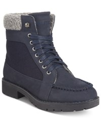 Nautica Thunder Bay Cold Weather Lace Up Boots Women's Shoes Navy