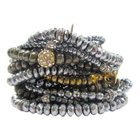 Dripping In Gems Hematite Pyrite And Gunmetal Stack Bracelets Multi