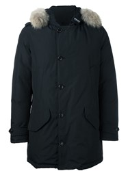 Woolrich Trim Detail 'Polar' Parka Coat Blue