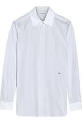 Current Elliott Charlotte Gainsbourg The Button Down Striped Cotton Shirt