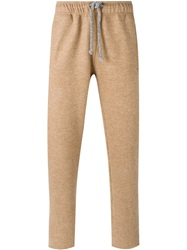 Laneus Drawstring Trousers Nude And Neutrals