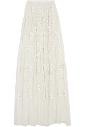Needle And Thread Embellished Tulle Maxi Skirt