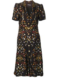 Alexander Mcqueen 'Obsession' Button Up Dress Black