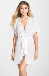 In Bloom By Jonquil 'Natalie' Chiffon Robe White