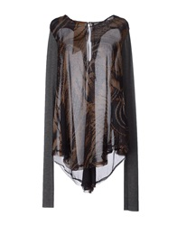 Alice San Diego Blouses Dark Brown