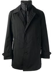 Brit Padded Layer Trench Coat Black
