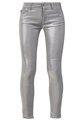Love Moschino Jeans Skinny Fit Argento Silver