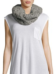 Eugenia Kim Knitted Wool Scarf Light Gray