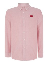 Canterbury Of New Zealand Plain Oxford Long Sleeve Shirt Red