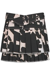 Isabel Marant Kyler Printed Cotton Mini Skirt Gray