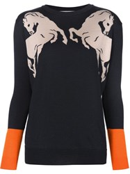 Stella Mccartney Intarsia Horse Sweater